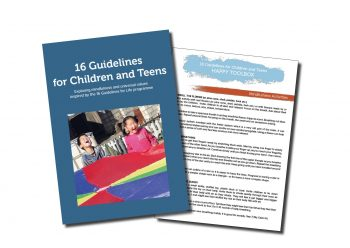 The front page of the new book for use with children and teenagers.