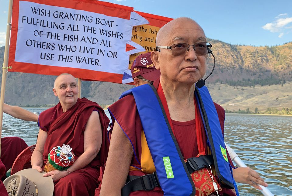 Video of Lama Zopa Rinpoche on How to Bless Beings in the Water