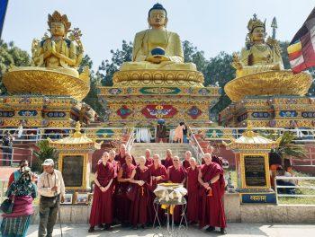 Nalanda Monastery Monks Attend Monlam Chenmo in Nepal