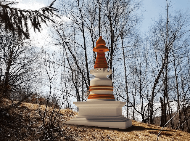 FPMT Study Group Making History: First Stupa Built in Transylvania, Romania