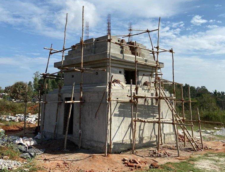 New 35-Foot Stupa Sponsored at Rabagayling Tibetan Settlement, Hunsur India