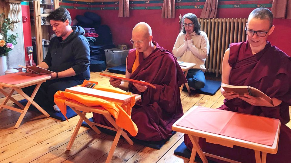 Jamyang Buddhist Centre Does Recitation Practice on Buddhist Holy Days