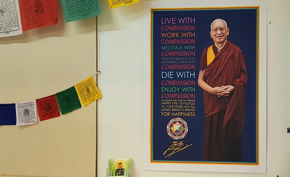 New 'Live with Compassion' Posters on Display at FPMT Centers Worldwide