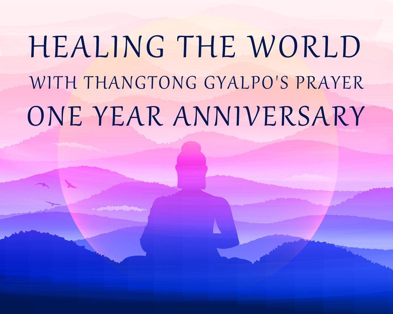 Poster for one-year anniversary of Thangtong Gyalpo Prayerathon