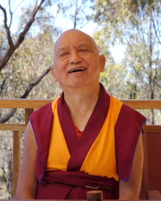 Lama Zopa Rinpoche, Bendigo, Australia, September 2014. Photo by Ven. Roger Kunsang.
