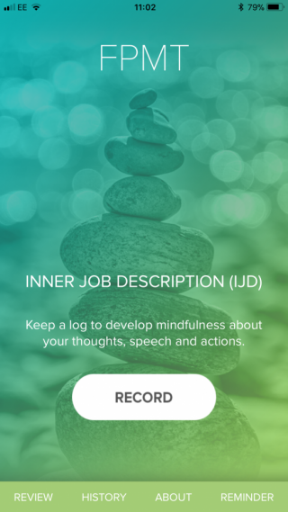 A screen shot of the Inner Job Description App landing page.