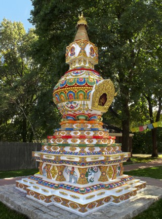 Kalachakra Stupa, Kurukulla Center, Medford, Massachusetts, US, 2011. Photo courtesy of  Kurukulla Center.