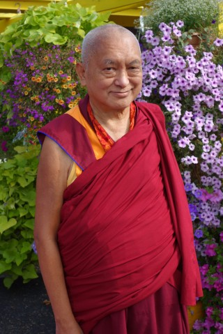 Lama Zopa Rinpoche, Washington, US, July 2014. Photo by Ven. Roger Kunsang.
