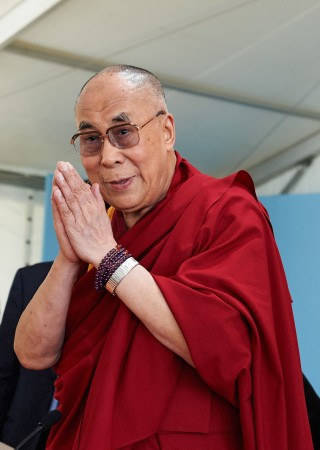 His Holiness the Dalai Lama, Istituto Lama Tzong Khapa, Pomaia, Italy, June 2014. Photo by Olivier Adam.
