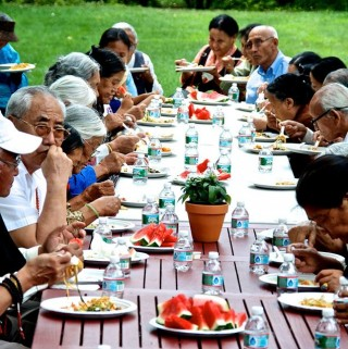 Kurukulla Center in Massachusetts recently hosted a lunch for eldery Tibetans.