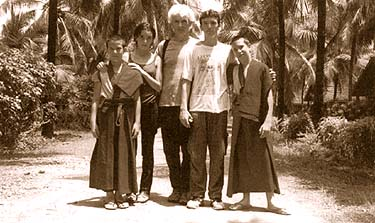 From left: Kunkyen, Harmony, Paco, Lobsang and Lama Osel