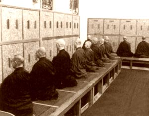 Group meditation at Shasta Abbey