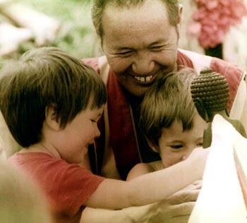 Ven. Lama Thubten Yeshe and friends