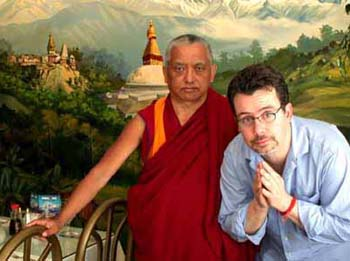 Lama Zopa Rinpoche with David Gonsalez