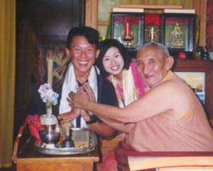 Major Fred Cheong with Ven. Ribur Rinpoche