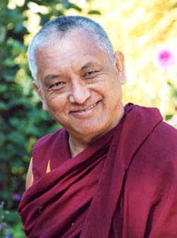 Lama Thubten Zopa Rinpoche. Photo by Ven. Roger Kunsang.