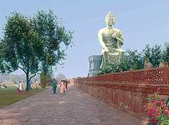 Artist's impression of the Maitreya Project park.