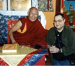 Jim Silvestri with Geshe Tsulga