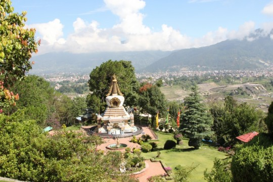 Geshe Lama Konchog Stupa at Kopan Monastery, Nepal, June 2011. Photo by Ven. Roger Kunsang.