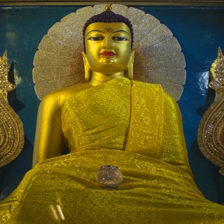 Buddha statue at Mahabodhi Stupa, Bodhgaya, India. Image: Toby Williams | Dreamstime.com.