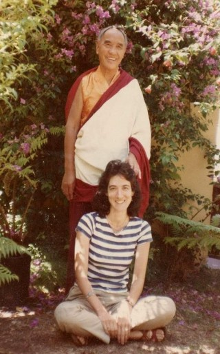 Dr. Anne Klein with Lama Gonpo Tsayden of Amdo; California, USA, 1982. Photo courtesy of Anne Klein.