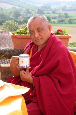 Lama Zopa Rinpoche at Institute Vajra Yogini, France, May 2003