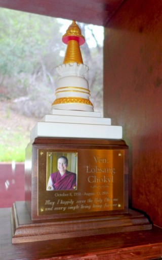 Memorial Stupa for Ven. Chokyi in Land of Medicine Buddha's Wish-Fulfilling Temple, California, US