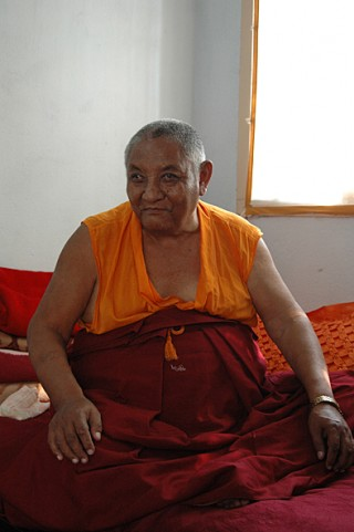Khensur Jampa Tegchok, Amaravati, India, 2006. Photo courtesy of Ven. Steve Carlier.