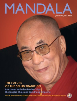 COVER PHOTO: His Holiness the 14th Dalai Lama Tenzin Gyatso, Rimini, Italy, July 2005. Photo by Piero Sirianni. Lama Zopa Rinpoche personally chose this photo for this issue's cover of Mandala.