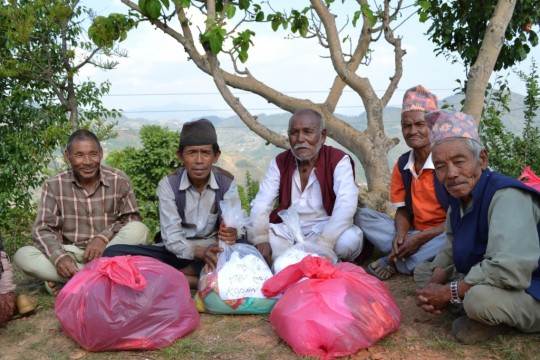 Recipients of Kopan Helping Hands' assistance, Nepal, 2015