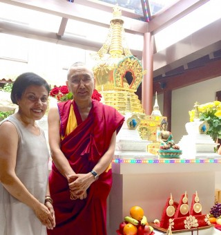 Khen Rinpoche Geshe Chonyi and Tara Melwani
