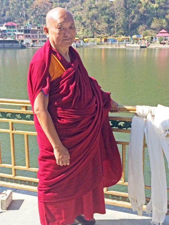 Lama Zopa Rinpoche at Tso Pema, India, February 2016. Photo by Ven. Holly Ansett.
