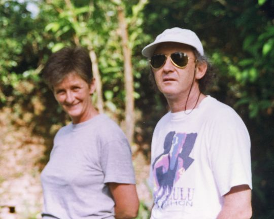 Trisha and Nick in Kathmandu, Nepal, 1994