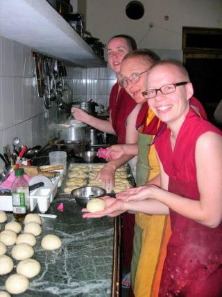 Living in community, Thosamling, 2009. Photo courtesy of Ven. Lozang Yönten.