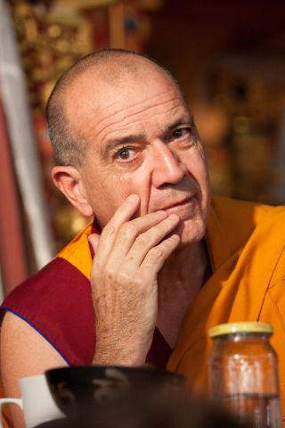 Kopan course facilitator Ven. Thubten Dondrub, Kopan Monastery, 2008. Photo by Artis Rams.