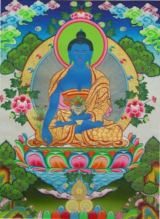 Medicine Buddha. Photo courtesy of FPMT Education Services.