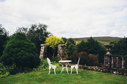 Gardens at Greenaugh Hall, Land of Joy, UK. Photo by Fiona Oliver.
