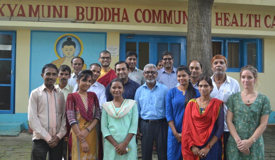 Staff of Shakyamuni Buddha Community Health Care Clinic.