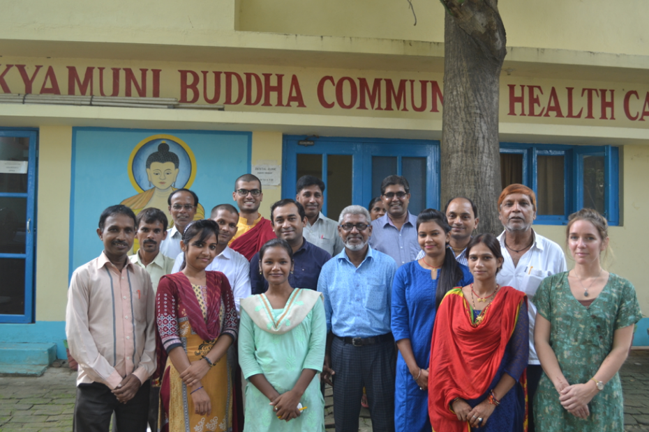 Staff of Shakyamuni Buddha Community Health Care Clinic.