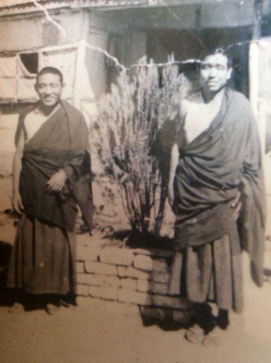 Geshe Lamsang Ganden Jangtse India 1970s