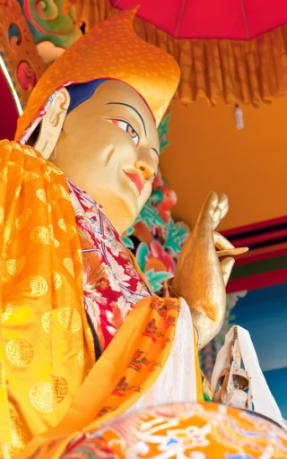Statue of Je Tsongkhapa, Kopan Monastery, Nepal. Photo: Dreamstime.