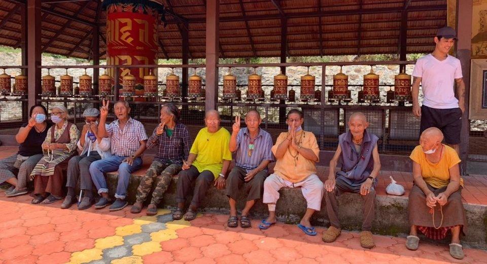 Some of the elders of Rabgayling Tibetan Family Welfare Association, in Hunsur, India.