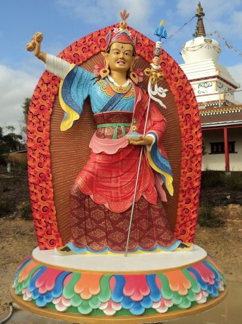 Guru Rinpoche statue at De-tong Ling retreat center, Bendigo, Australia.
