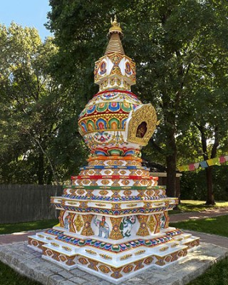 Kalachakra Stupa at Kurukulla Center, Massachusetts USA.