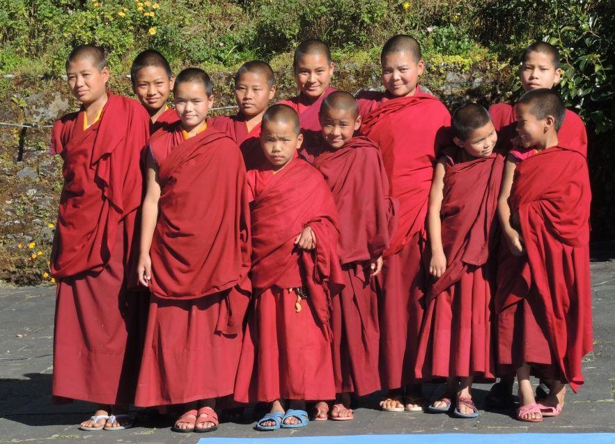 Young nuns of Tashi Chime Gatsal Nunnery, Nepal.
