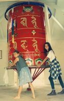 Chenrezig_Prayerwheel_-_and_girls