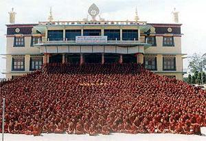 The monks of Sera Je Monastery