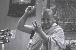 "Lama Yeshe: ""You're a fish swimming through water."" Photo by Carol Royce-Wilder."
