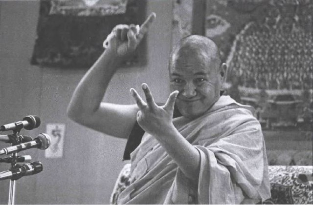 """Lama Yeshe: """"You're a fish swimming through water."""" Photo by Carol Royce-Wilder."""