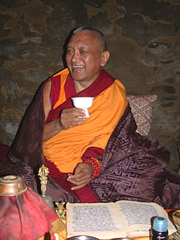Lama Zopa Rinpoche, Tibet, 2002. Photo by Ven. Roger Kunsang.
